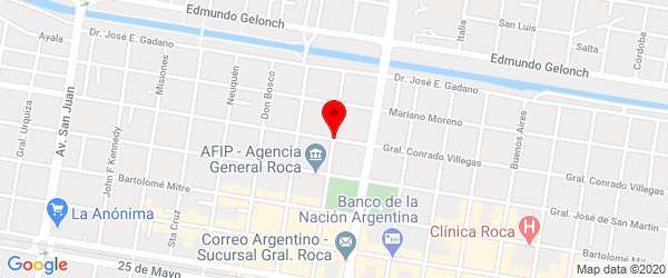 España 100, General Roca, Río Negro