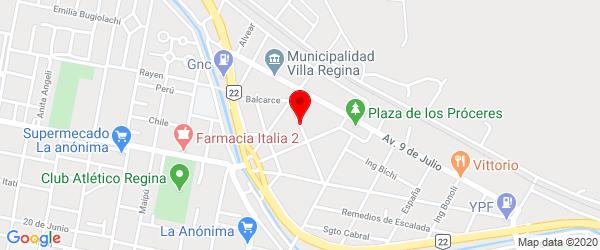 Reconquista 142, Villa Regina, Río Negro