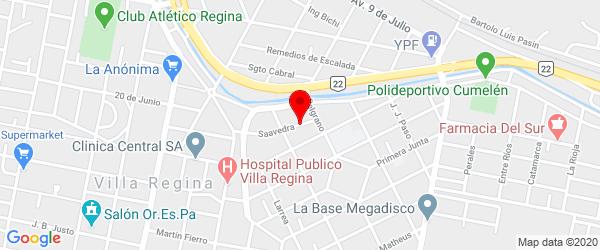 Saavedra 69, Villa Regina, Río Negro